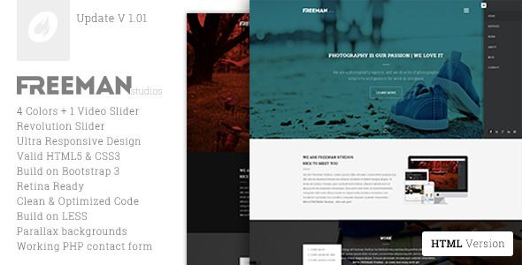 Freeman - Multipurpose One Page Template - Creative Site Templates