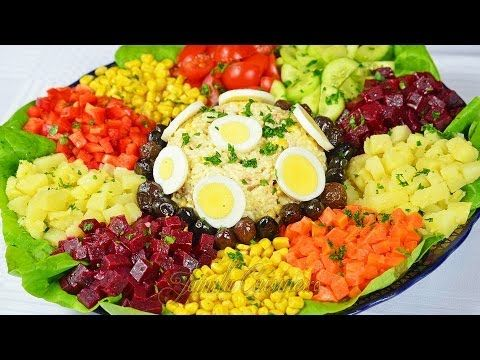 Moroccan BIG Salad + Mayonnaise & Vinaigrette / Salade Marocaine + Mayonnaise et Vinaigrette - YouTube