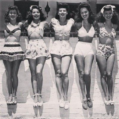 Every young lady had a swimsuit *AND* a playsuit. Description from pinterest.com. I searched for this on bing.com/images