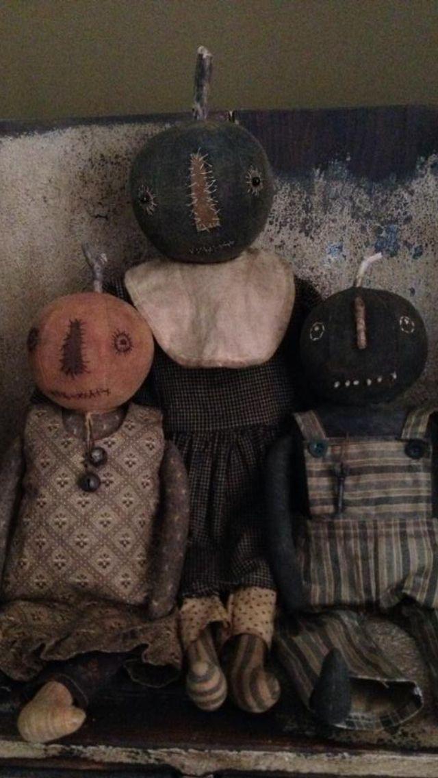 Primitive Pumpkin Dolls