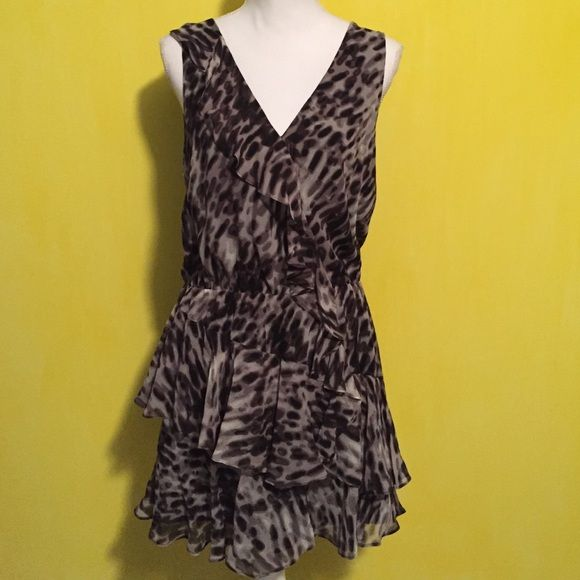 Nwt BCBGMaxazria silkdress Brand new with tags BCBGMAXAZRIA dress, loose style, size women's medium, fits true to size, ruffle detail, can provide measurements upon request, brand new! Bundle to save ❤️ shell is 100% SILK and lining is 100% polyester BCBGMaxAzria Dresses