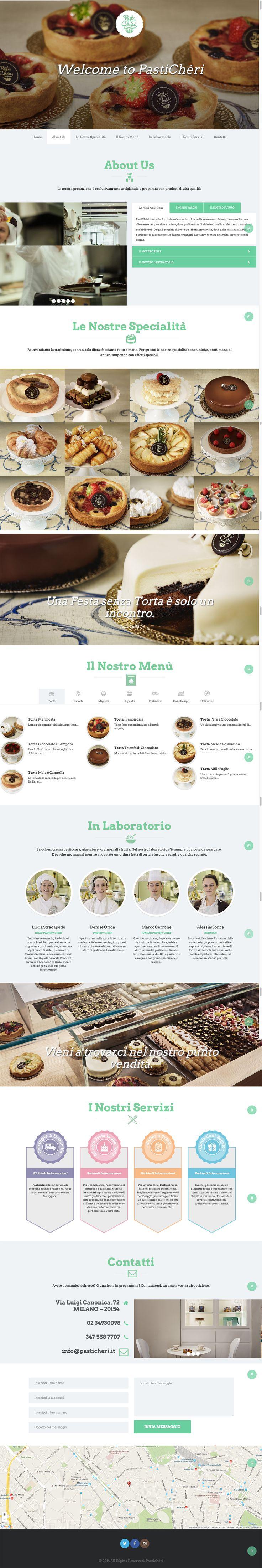 Sito web di presentazione per PastiChéri - Milano - HomePage - Realizzato con Wordpress- Anno 2015