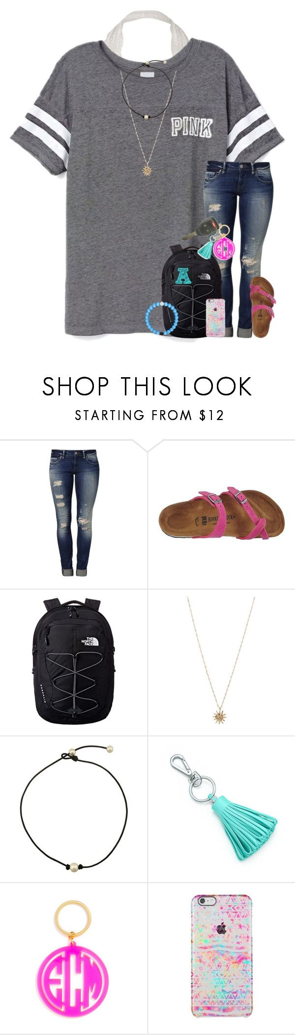 """""""Jeep Contest ends tomorrow night."""" by abbypj ❤ liked on Polyvore featuring Victoria's Secret, Mavi, Birkenstock, The North Face, ASOS, Tiffany & Co. and BaubleBar"""