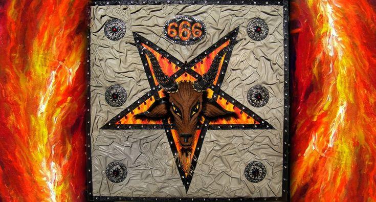 #Baphomet #Pentagram #Satanic Star - #Art of Sofia Metal Queen - YouTube