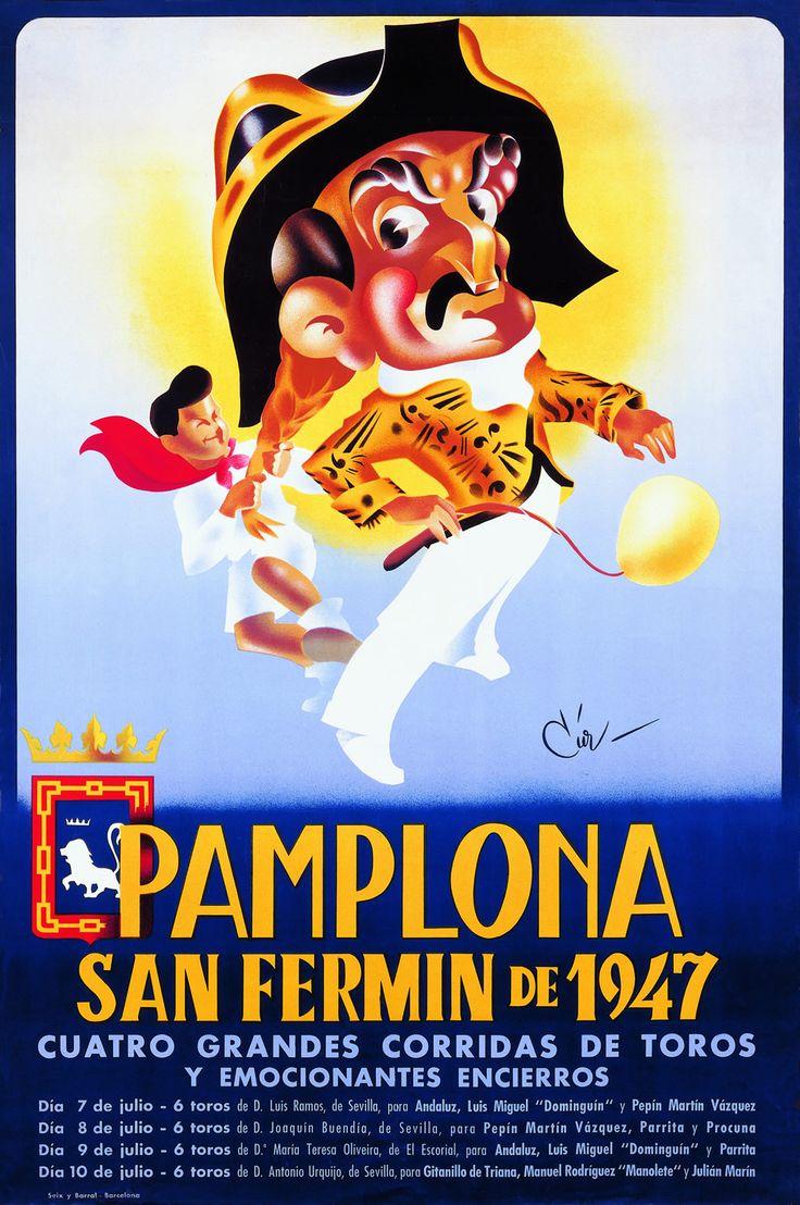 San Fermín 1947 Jose Luis y Juan Mª Cia