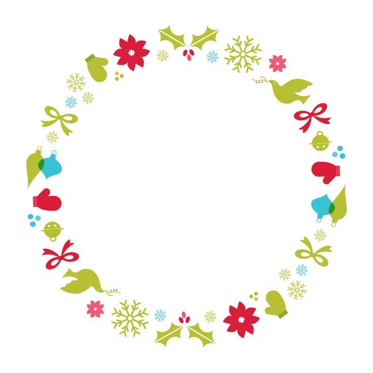 CHRISTMAS WREATH CLIP ART | CLIP ART - CHRISTMAS 1 - CLIPART ...