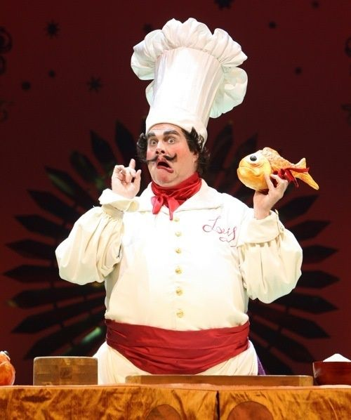 """Chef Louis Inspiration on make-up and costume. His needs to be """"over the top."""" Other chef dancers can be simpler."""