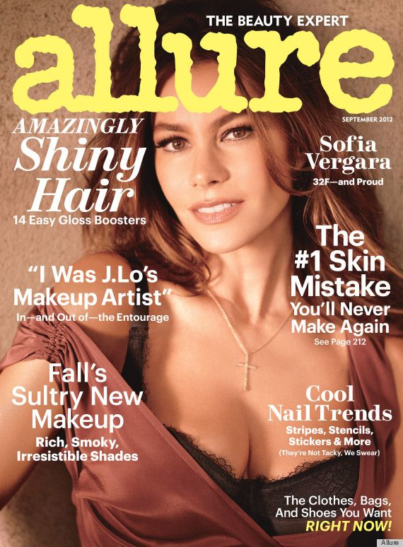 Sofia Vergara covers Allure September - and talks boobs boys and beauty!