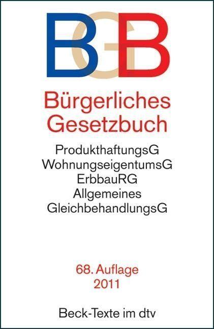 Bürgerliches Gesetzbuch (BGB) 2011 Auflage 68. Buch | gebraucht in gutem Zustand