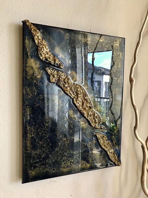 Abstract Resin painting ,modern art original artwork home