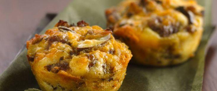 Hier sind unsere unglaublich leichten Pasteten, gefüllt mit Schweinefleisch und Green Giant®-Pilzen. …
