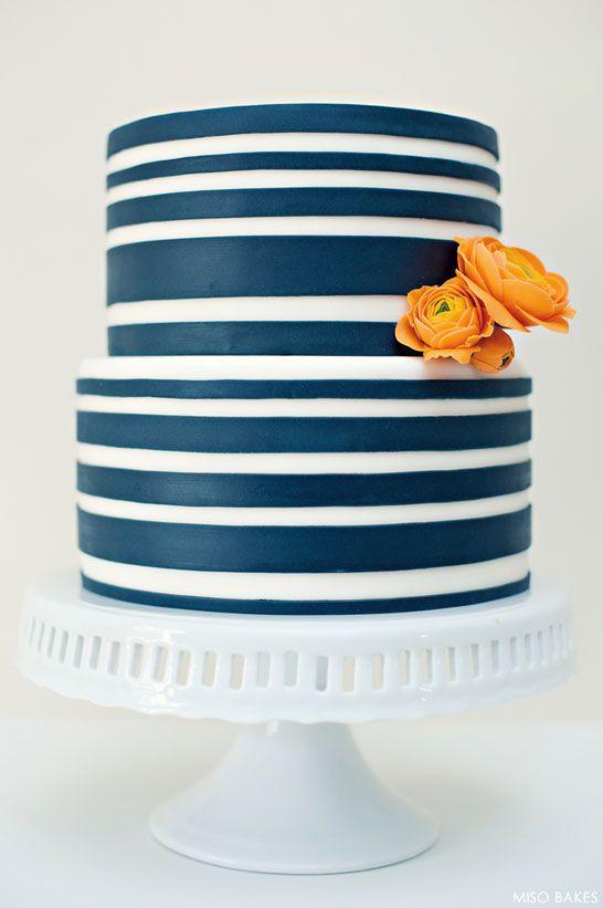 Stripes. Stripes. Stripes.   Cool Cake Inspirations   Pinterest   Cake, Wedding cakes and Nautical wedding cakes