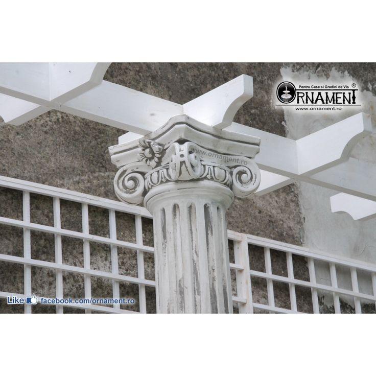 Coloana Ornamentala din beton in Stilul Grecesc Ionic