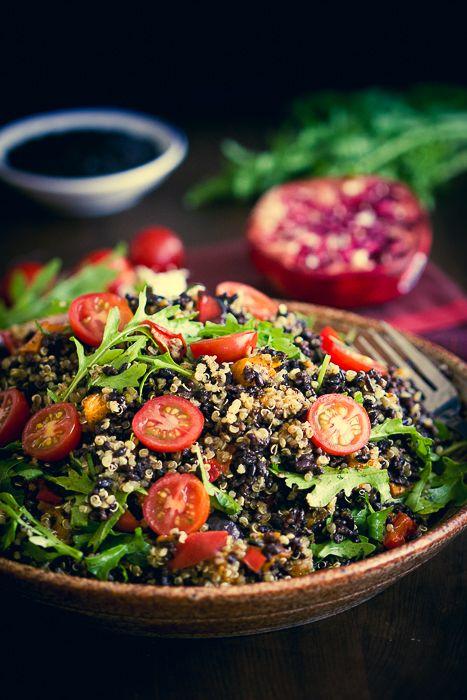 Black Rice, Quinoa, Rocket and Roast Vegetable Salad-8