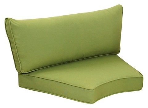 Grand Basket Harrison Sectional Palm Green Seat and Back Replacement Cushion