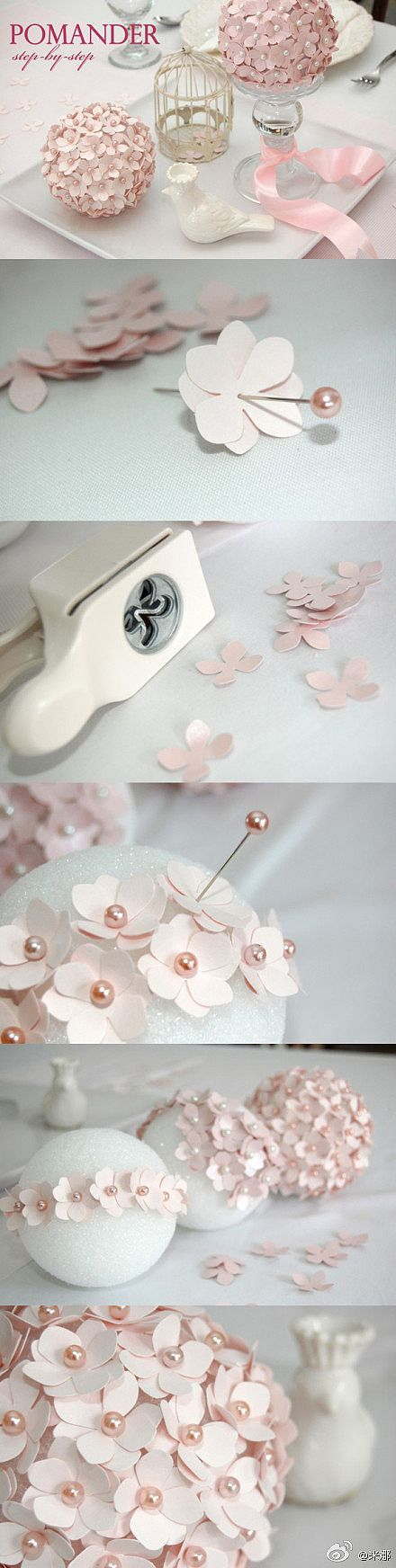 paper flower ball. don't know what I'd use it for, but it's cute!