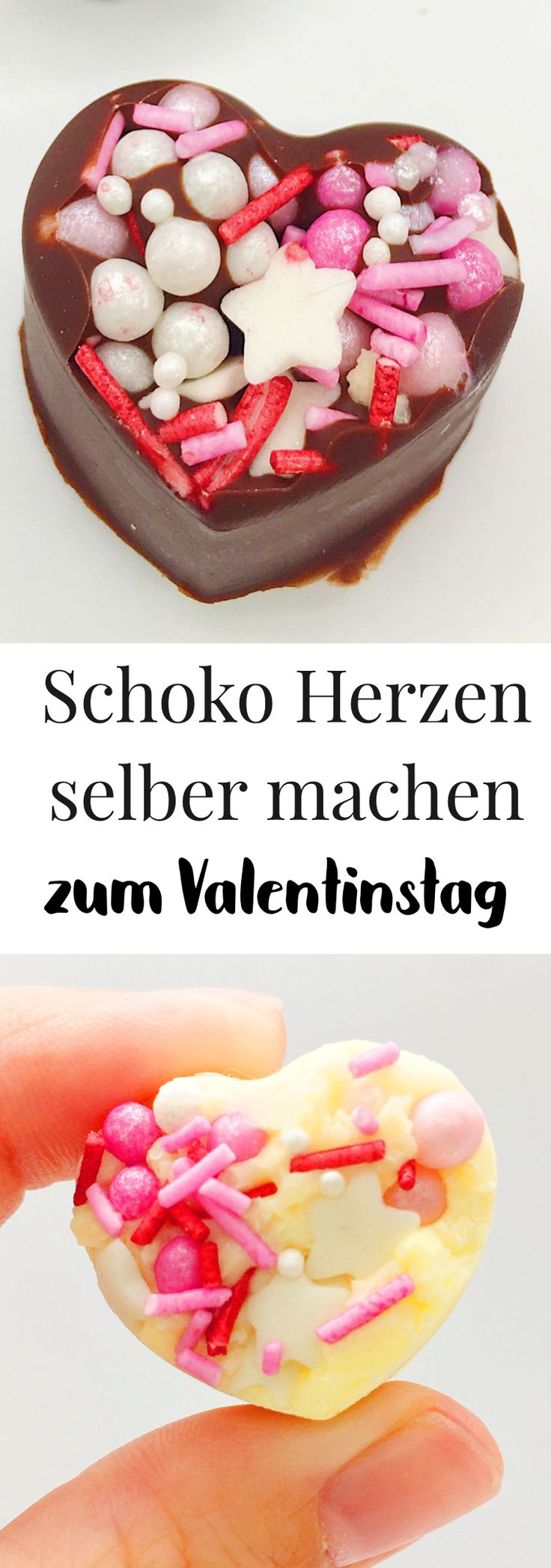 Make chocolate hearts yourself – simple gift ideas