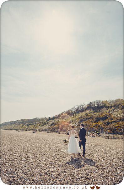 Dunwich beach wedding photos - www.helloromance.co.uk