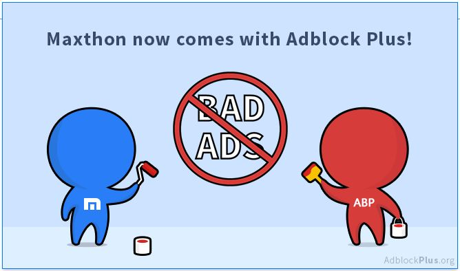 Blocking annoying ads was never automatic ... until today: Adblock Plus is now integrated directly into Maxthon Browser!