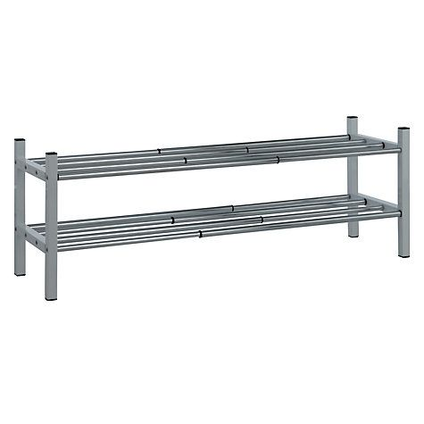 Buy John Lewis 2 Tier Extendable Chrome Shoe Rack Online at johnlewis.com