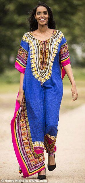 Müslüman güzellik kraliçesi kaftan giyecek