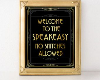 Gatsby party decorations Roaring twenties sign. by GoldMoonParty