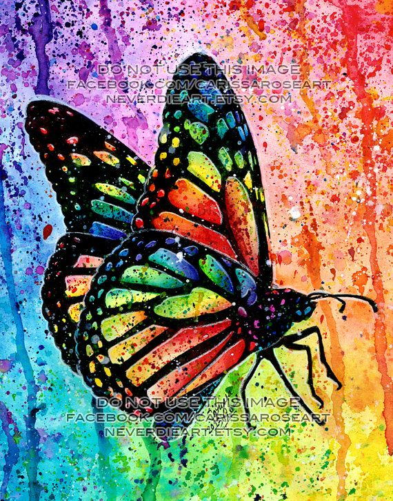 Hey, I found this really awesome Etsy listing at http://www.etsy.com/listing/154310990/art-print-butterfly-rainbow-pop-art