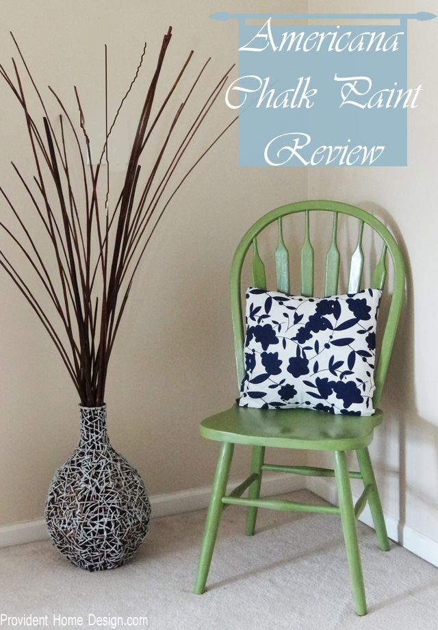 Chair Makeover and Americana Brand Chalk Paint Review found at www.providenthomedesign.com.