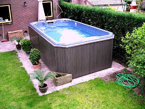58 best swim spas plus images on pinterest spa spas for Out of ground pools for sale
