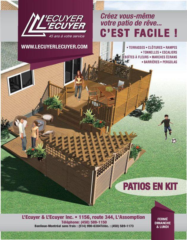 lecuyerlecuyer.com • Aménagements de terrasses de patio en bois traité prêt à monter