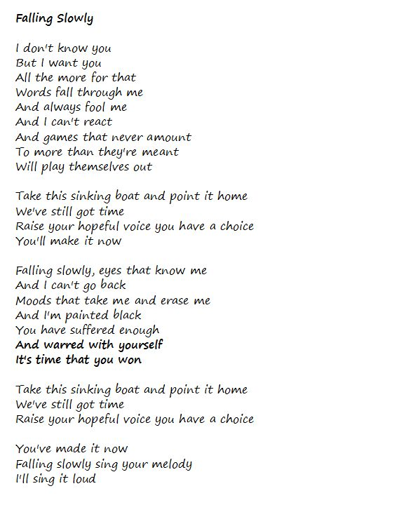 Falling slowly lyrics steve kazee dating 4