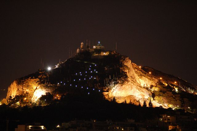 The beautiful Lycabetous Hill down-town Athens!