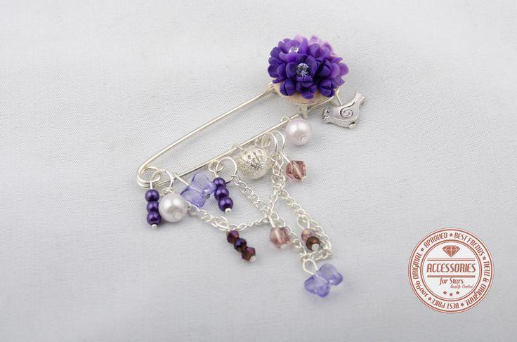 http://accessoriesforstars.blogspot.ro/ #brooches #purple #swarovski #crystals #brose #accessories #flowers #lilac #accesorii
