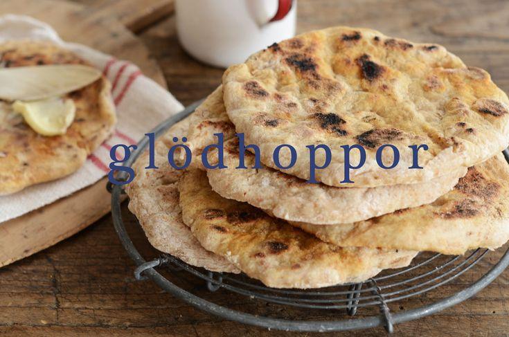 Recept på glödhoppor som är ett snabbakat tunnbröd. Foto: Liselotte Forslin