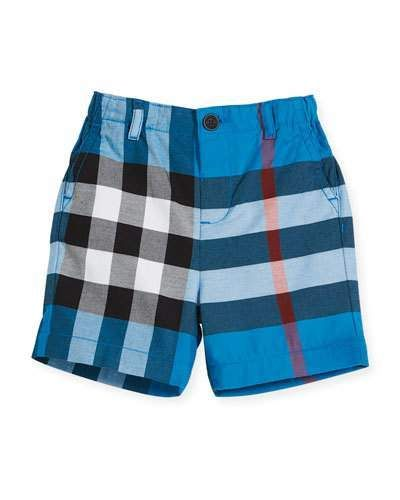 03182b3ae6aac Sean Cotton Check Shorts Blue Size 6M-3Y | Products | Burberry ...