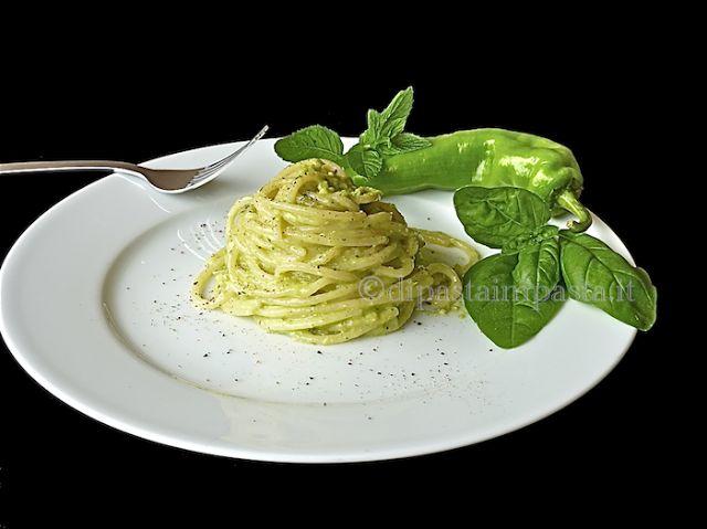 Di pasta impasta: Spaghetti al pesto di friggitelli © 1° versione