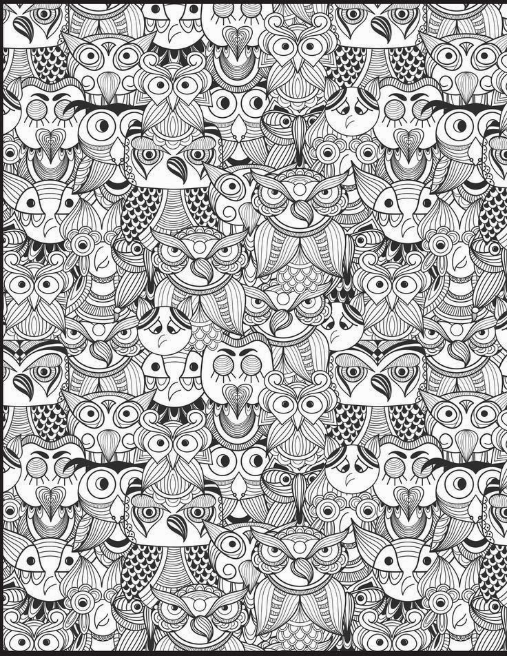 The Owl Doodle From Coloring Book Vol