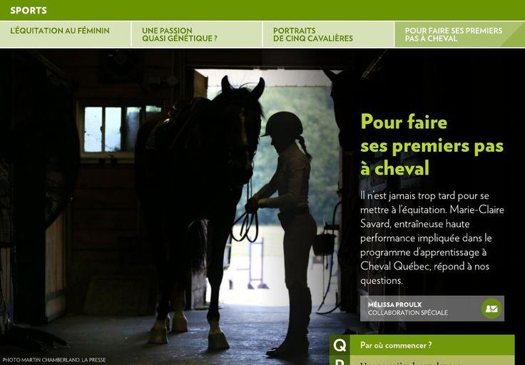 L'équitation au féminin - La Presse+