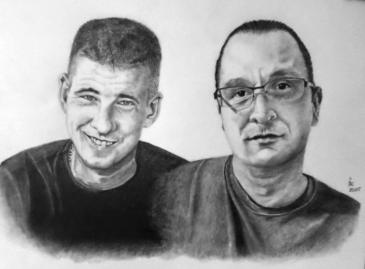 My brother and his friend, portrait with graphite by Erika Székesvári https://www.facebook.com/ercziart