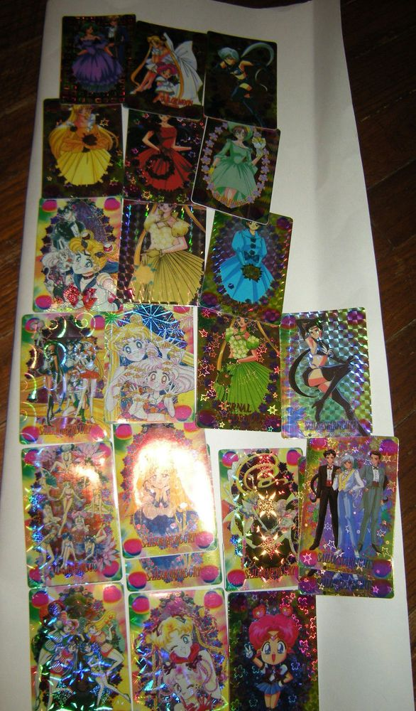 Sailor Moon characters Rare Hologram Stickers LOT, Bandai 1996, LOT of 22, Japan