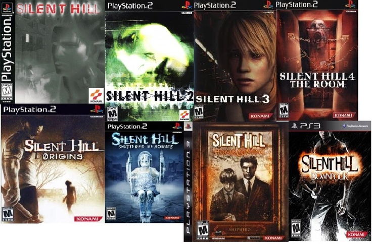 all the silent hill games, for ps1,ps2,ps3. I just love them!!!!   I've bet all but the last 2. then there is 2 movies that have come out. and there's a game that has come out for the psp.