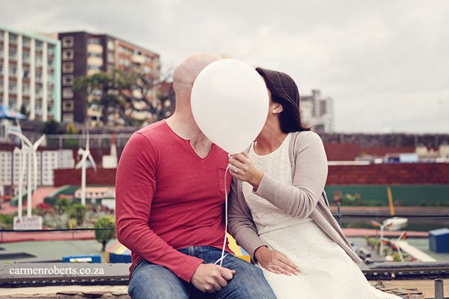 Cameron & Louise engagement shoot on the beach front in Durban. Carmen Roberts Photography