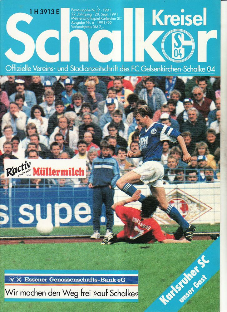 BL 91/92 FC Schalke 04 - Karlsruher SC