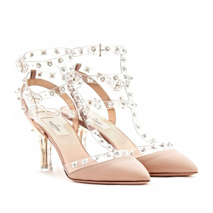 Mytheresa Com Valentino Naked Rockstud Leather Kitten Heel Pumps Luxury Fashion For Women