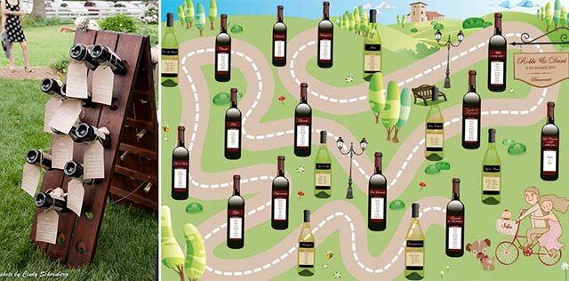 tableau matrimonio a tema vino