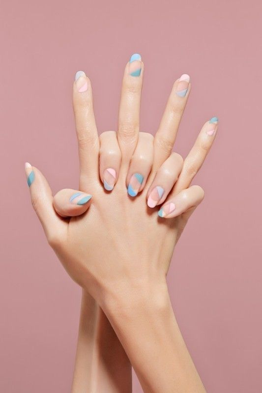 minimal + playful nail design