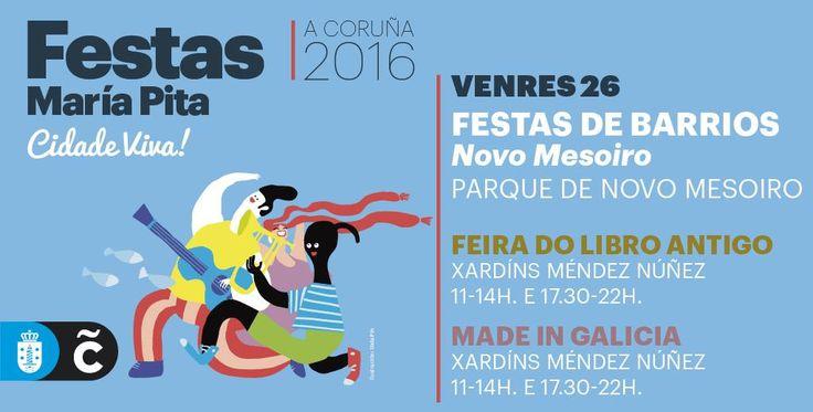 Empiezan las fiestas de Novo Mesoiro! Recuerda que este es el último fin de semana de #MaríaPita16