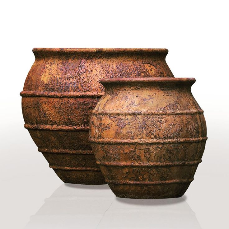 """Asian inspired Taranto Pots #grc #concrete# lightweightconcrete # planters #gardendecoration #cementplanters #designerpots #gfrc #export #gardensupplies"" #gdrasia"