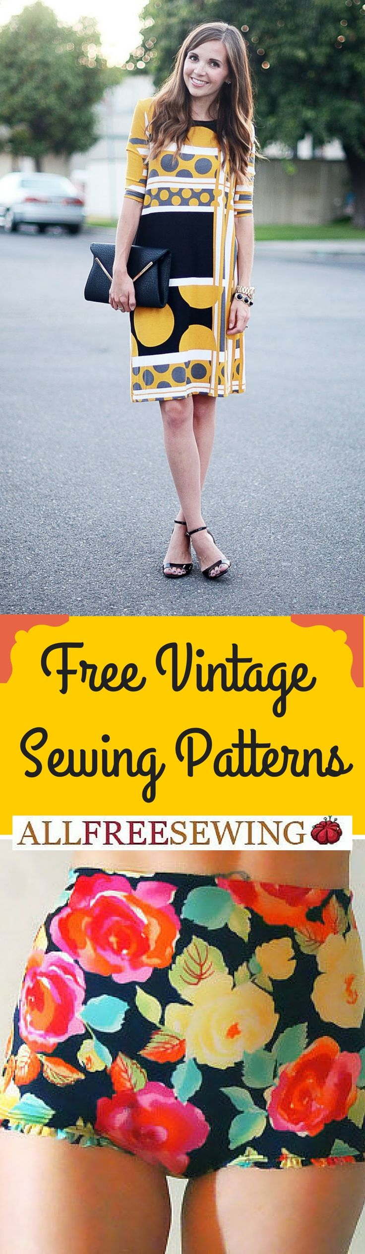 Free vintage sewing patterns. Sew your own clothing inspired by vintage styles and patterns. These classic sewing patterns are so pretty!