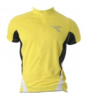 Made from polyester birdseye mesh with moisture management properties.